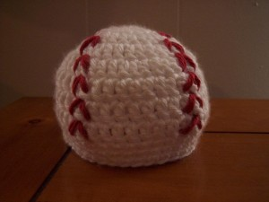 crocheted Newborn Baseball Hat