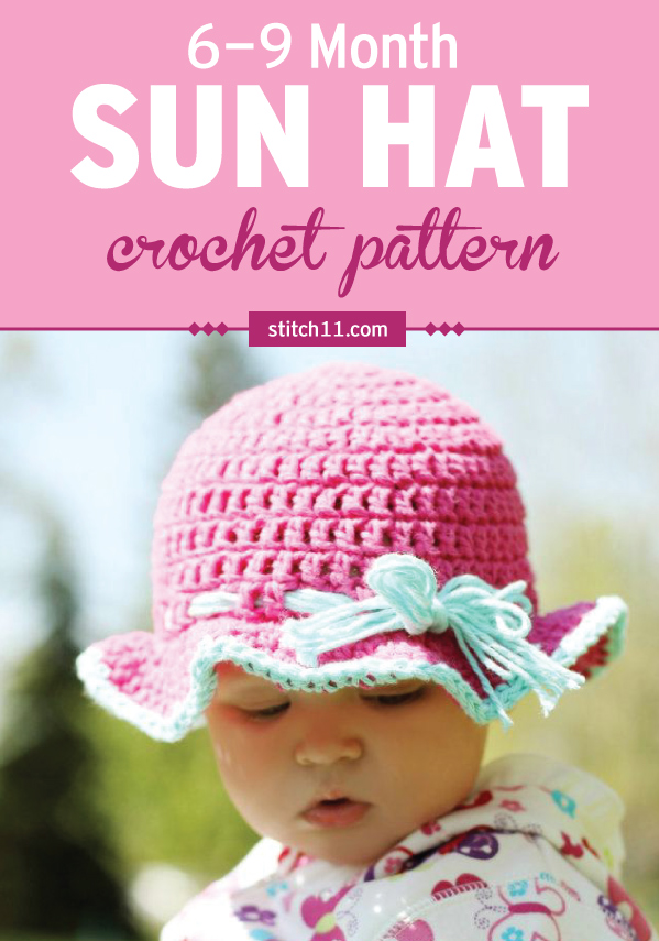 Our babies are so precious and have very sensitive skin. Help protect your baby from the elements with this adorable sun hat crochet pattern. #crochet #crochetlove #crochetlife #crochetaddict #crochetpattern #crochethat #ilovecrochet #crochetgifts #crochet365 #addictedtocrochet #yarnaddict #yarnlove