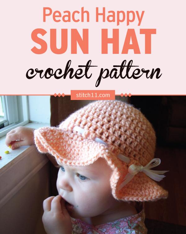 Peach Happy Sun Hat Stitch11