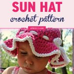 This toddler sun hat crochet pattern is a simple and appealing design – perfect for your little ones when you