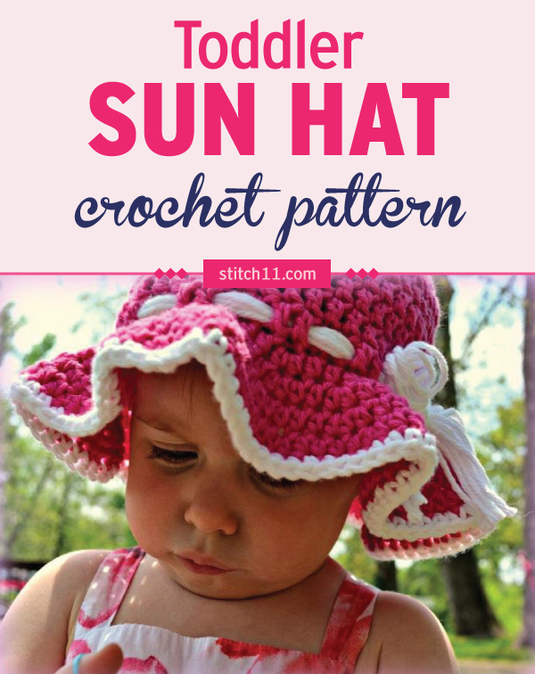 Toddler Sun Hat Crochet Pattern Stitch11
