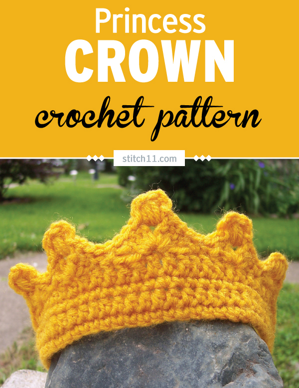 This Princess Crown crochet pattern is a lovely toy for your imaginative and princess-loving kids. They can wear this around and pretend to be the lovely, precious princesses in their own real-life fairy tales.  This crown is quick to make and fits toddlers and small kids. #crochet #crochetlove #crochetlife #crochetaddict #crochetpattern #crochetinspiration #ilovecrochet #crochetgifts #crochet365 #addictedtocrochet #yarnaddict #yarnlove