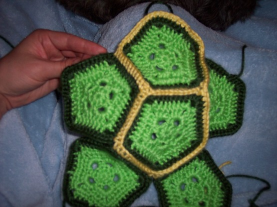 Free crochet turtle shell pattern