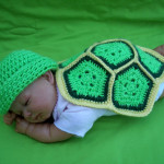 Crochet Turtle Shell Photo Prop