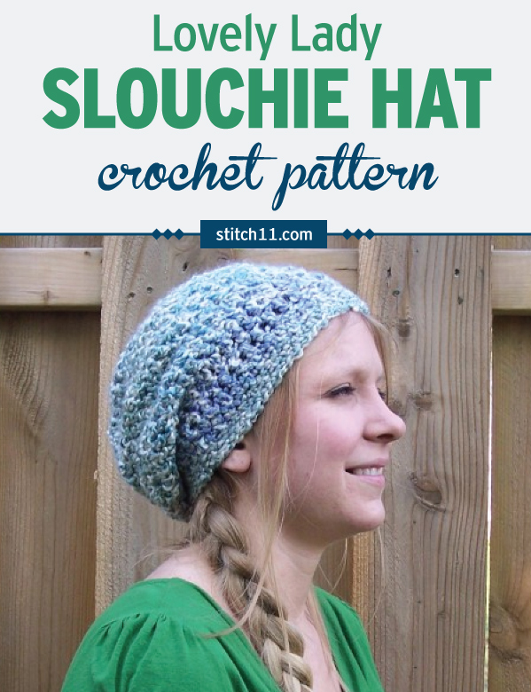 Lovely Lady Slouchy Hat - Stitch11