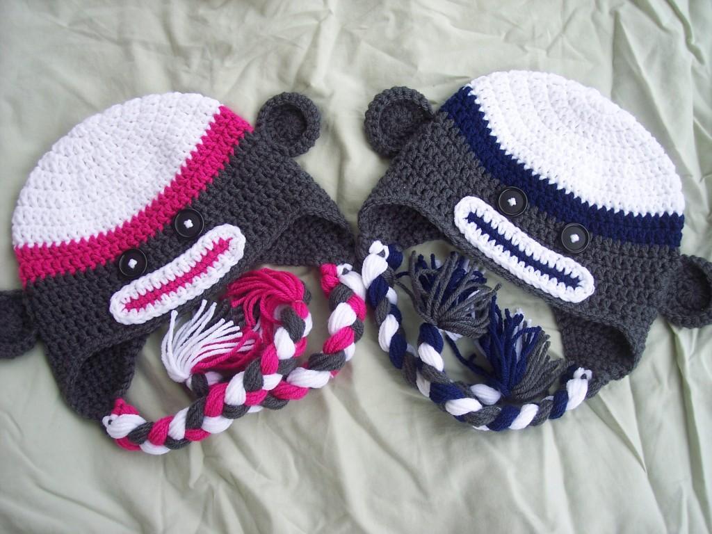 Child Size Sock Monkey Hat Stitch11