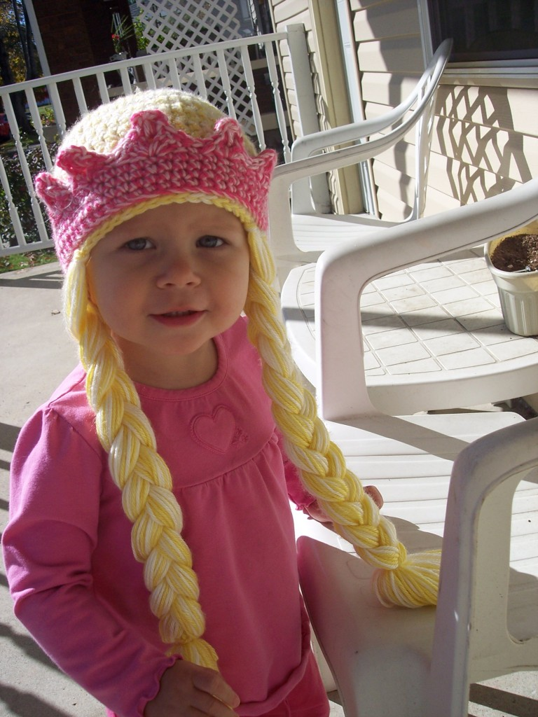 Princess Hat with Braids and Crown - Stitch11