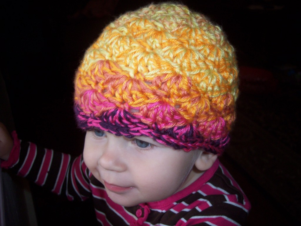 Toddler Shell Beanie Stitch11