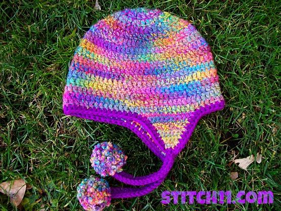 Curly Q Earflap Hat Stitch11