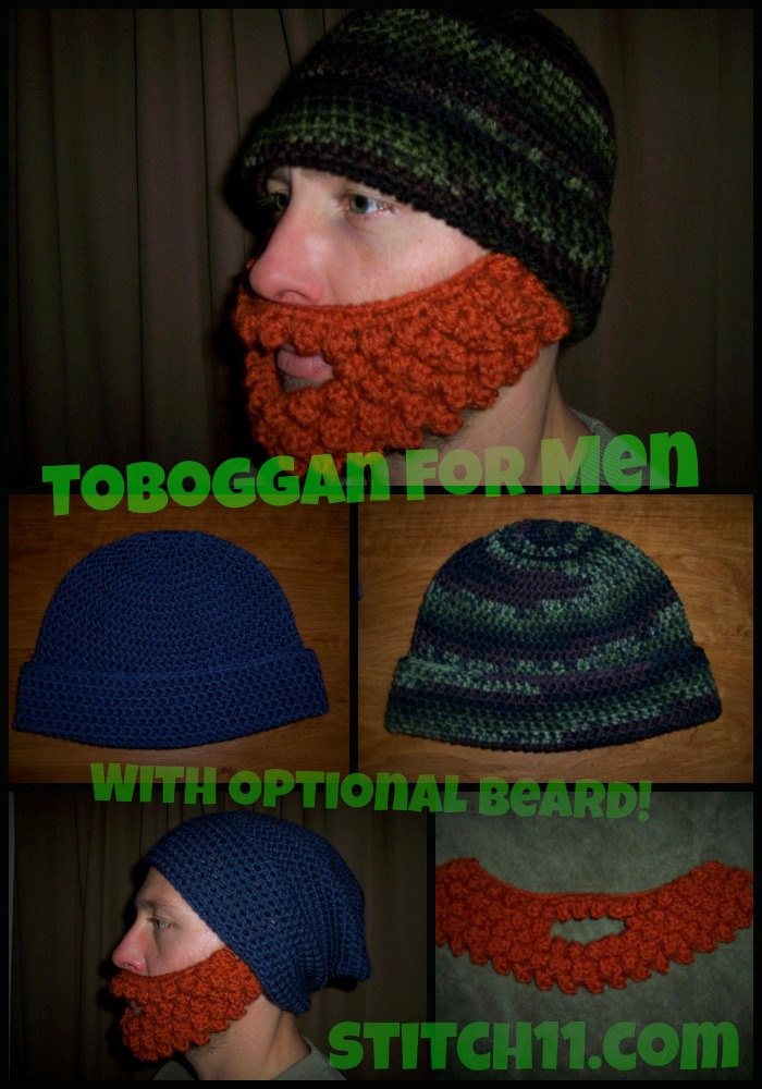 A tobbogan for men with optional beard stitch11 when dt1010fo