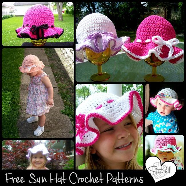 free sun hat crochet patterns