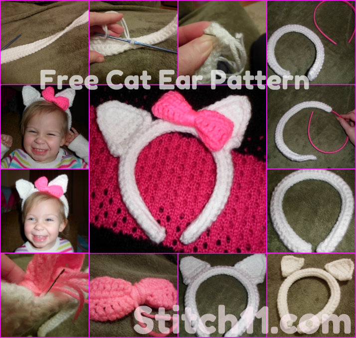 Free Cat Ear Pattern Stitch11