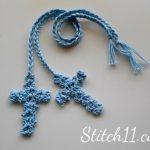 Free Crochet Cross Bookmark