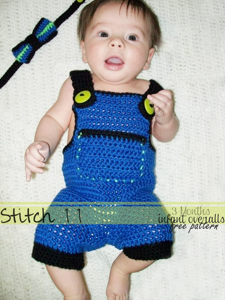 Infant Overalls Size 3 Months Stitch11