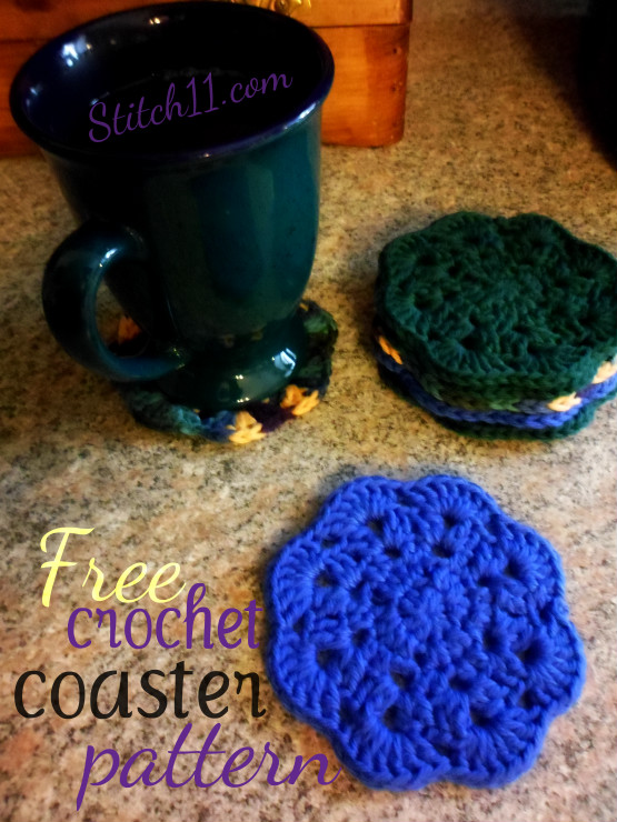 Free Crochet Coaster Pattern Stitch60 Simple Crochet Coaster Pattern