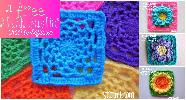 Stash Bustin\' Crochet Squares - Stitch11