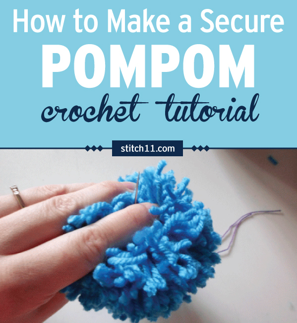 Have you ever watched a pom pom fall apart before your eyes? Have you ever made a toddler a hat with pom poms? If the answer is yes, you need to know how to make a secure pom pom!! Follow this step by step tutorial and say goodbye to those annoying pom pom bombs. #crochet #crochetlove #crochetlife #crochetaddict #crochetpattern #crochetinspiration #ilovecrochet #crochetgifts #crochet365 #addictedtocrochet #yarnaddict #yarnlove