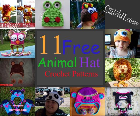 11 Free Animal Hat Crochet Patterns Stitch11