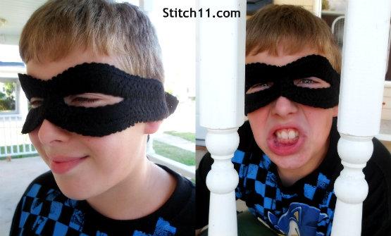 Bank Robber Crochet Mask