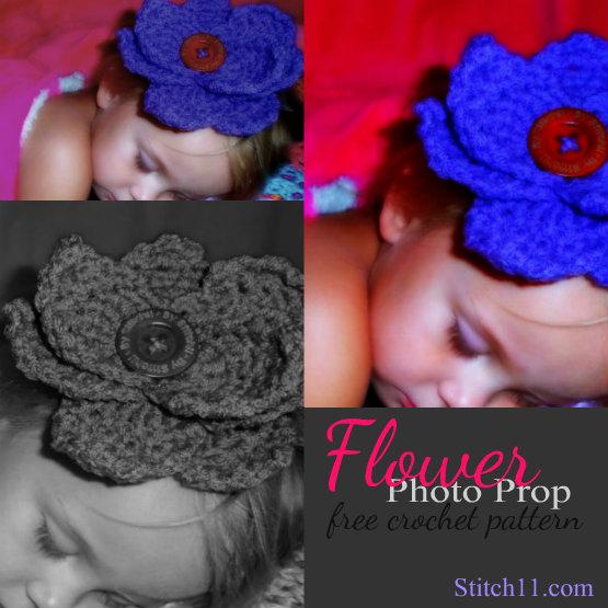 Free Flower Photo Prop Crochet Pattern
