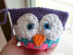 Crochet Owl Head