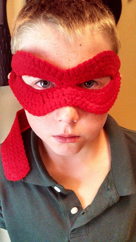 TMNT crochet mask