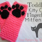 Kitty Cat Fingerless Mitts