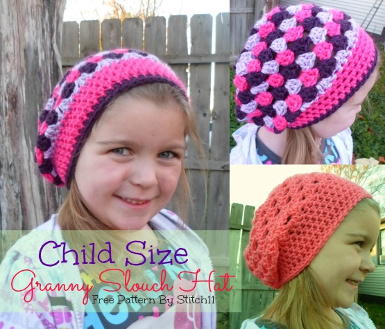 Child Size Slouch Hat - free Crochet Pattern 241b8d8a3f2
