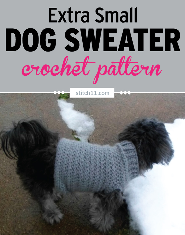 Extra Small Dog Sweater Crochet Pattern Stitch11