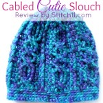 Free Crochet Pattern - Cabled Cutie Slouch - Review