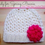 Ready For Spring Crochet Child Size Beanie - Free Pattern