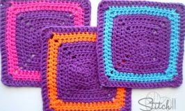 Stitch11 Crochet Square Washlcloth
