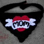I love mom tattoo - free crochet pattern