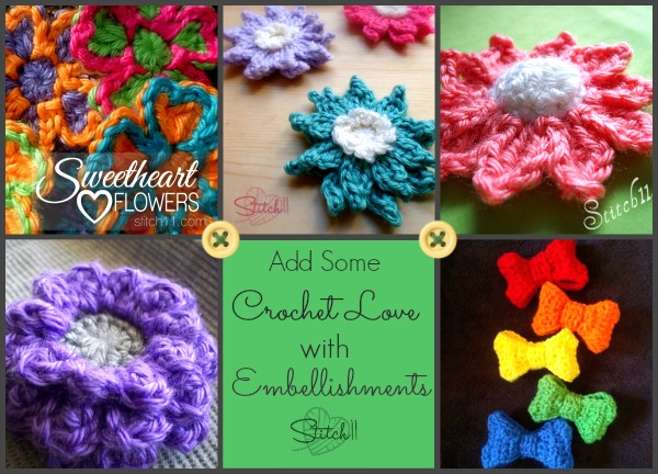 Free Crochet Embellishments