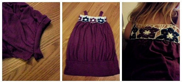 How to upcycle a shirt into a childs dress