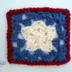 Free star in a square pattern