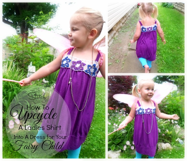 Upcycle Ladies Shirt into a child size dress