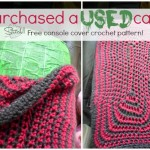 Car Console Cover Crochet Pattern