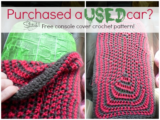 Free Car Console Cover Crochet Pattern Stitch11