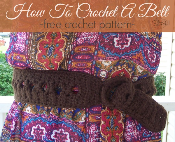 How To Crochet A Belt Stitch11