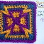 Bursting Corners - Free crochet square pattern