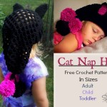 Cat Nap Hat- free crochet pattern - sizes adult, child, and toddler