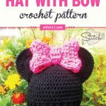 This Minnie Mouse Hat Crochet Pattern is perfect for little ones who are big fans of Miss Minnie Mouse. Fits kids aged 3-5. #crochet #crochetlove #crochethat #crochetaddict #crochetpattern #crochetinspiration #ilovecrochet #crochetgifts #crochet365 #addictedtocrochet #yarnaddict #yarnlove