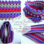 Free Kissing Jewels Infinity Scarf Crochet Pattern