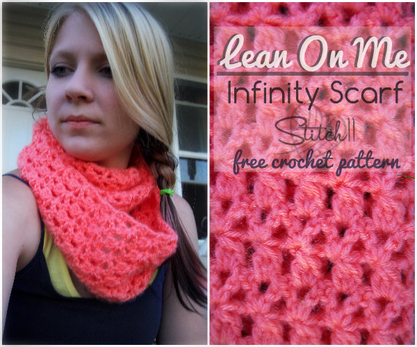 Knitting Scarf Patterns Infinity Scarf : Lean on me free crochet infinity scarf pattern stitch11
