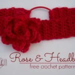 Stitch11 Rose and Headband - Free Crochet Pattern