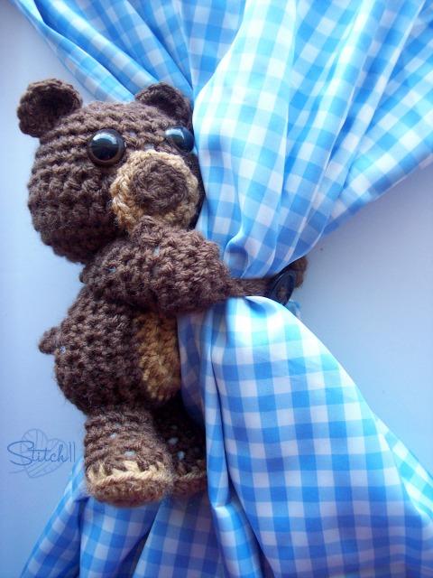Curtain Hugging Bear