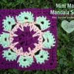 Mini Magic Mandala Square - Free crochet pattern - review -