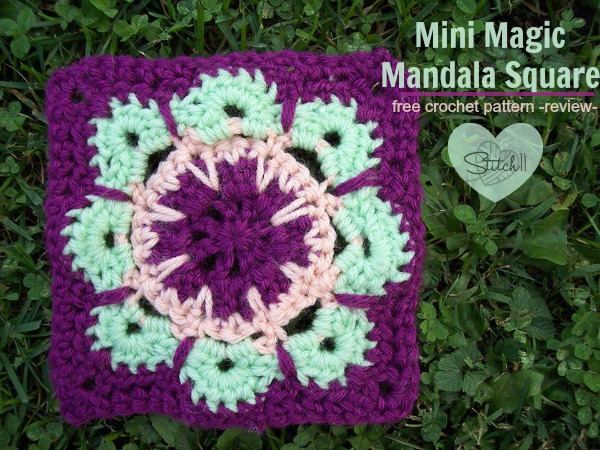 Mini Magic Mandala Square - Free crochet pattern - review -