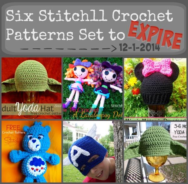 Stitch11 Crochet Patterns set to Expire